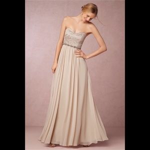 BHLDN by Jenny Yoo Sandstone Scarlett Dress Sz 0